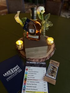 A table gift package at a horse race-themed event in Louisville, Ky.