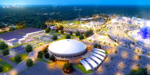This rendering shows the future Memphis Sports & Events Center, a planned 227,000-square-foot facility which will be part of Liberty Park, a multi-use development planned on the former Fairgrounds property.