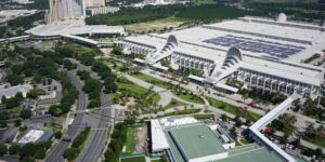 The Orange County Convention Center (OCCC) has the largest solar panel array in the southeast U.S., with enough energy to power 200 homes a year.