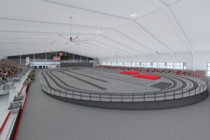 Looking to add to its core sports market, Louisville officials strategically set out to construct a premier indoor track and field facility.