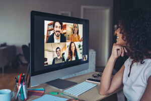 According to research by The Harris Group, 63 per cent of those surveyed said they can achieve more through a video conference from home than an in-person meeting.