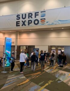 Onsite at SURF Expo in Orlando, Fla., in January. The pandemic has created opportunities for GSCs to work together with venues and organizers, said Kevin Bird, executive vice president of sales at the Atlanta branch of Shepard.