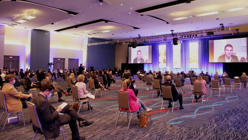 The Little Rock Convention & Visitors Bureau is reporting a slow but steady return of events to its managed properties.