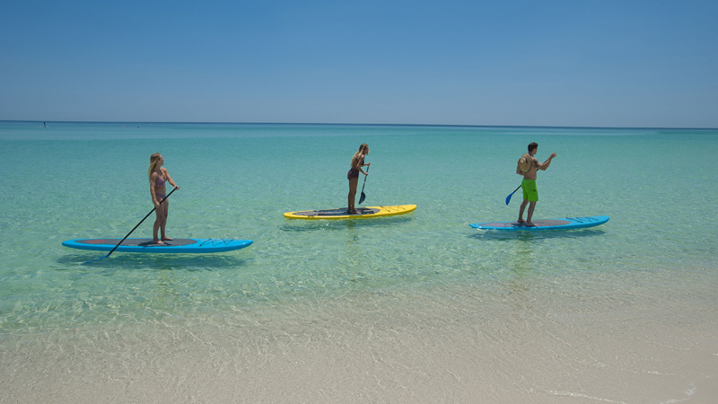 Pensacola beaches serve as an open-air, socially distanced alternative to traditional indoor venues.