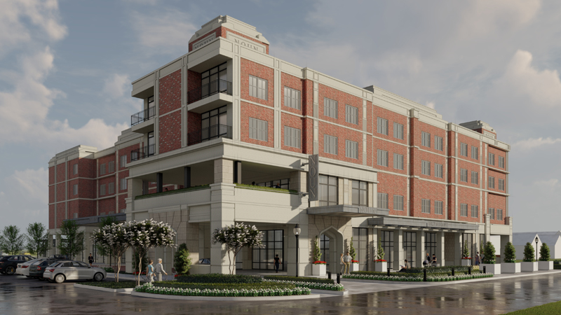 NOUN Hotel, a four-story, 92-room boutique hotel, is set to open in summer 2022. It will feature multiple meeting spaces, including a 150-person banquet room.