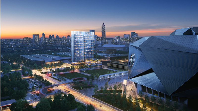 Construction is underway on Signia by Hilton Atlanta, the first hotel under the company's new meetings and event spaces brand.