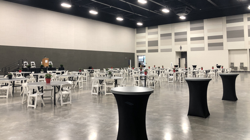 The BASE, a $32 million multipurpose facility at the Extraco Events Center in Waco, Texas, features 52,000 square feet of space.