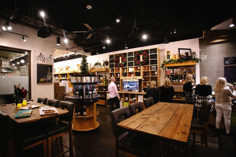 Vino Venue in Dunwoody, Ga., offers wine-tasting machines and bistro-style dining.