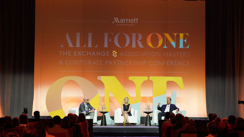 """] Marriott International recently hosted """"The Exchange,"""" the company's largest in-person meeting since the start of the pandemic. The event was held August 24 to 27 at Walt Disney World Swan and Dolphin."""